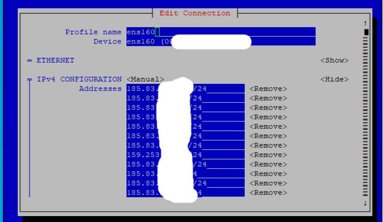 centos 7 ip adresi değiştirme